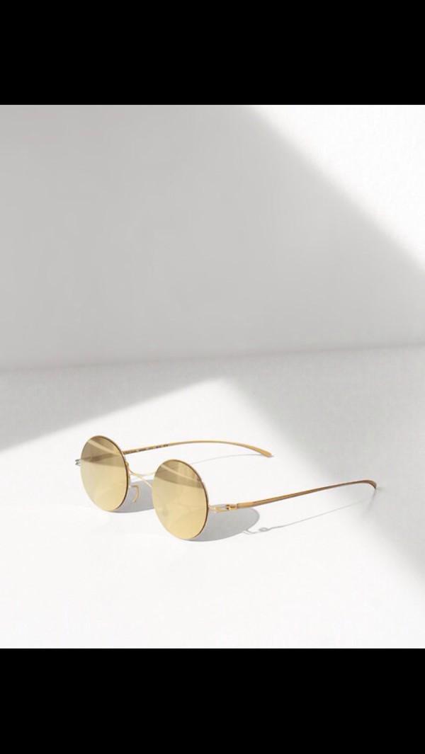 sunglasses sunsmart summer 2k14 beauty fashion shopping fashion tumblr tumblr girl gold cute different designs please! round sunglasses vintage glasses retro sunglasses minimalist