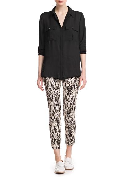 MANGO - CLOTHING - Tops - Two-pocket blouse