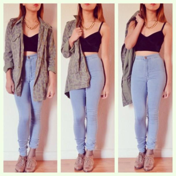 jeans pants high waisted jeans jacket shoes