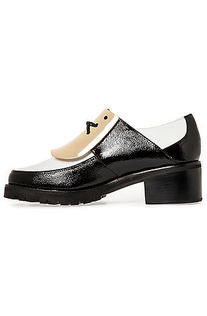 Jeffrey Campbell Shoe Lester Shoe in Black and White with Gold -  Karmaloop.com