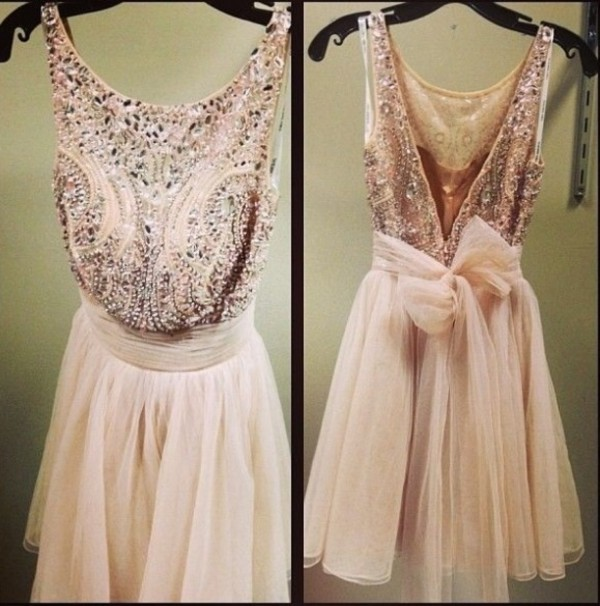 dress cream homecoming dress style short dress sparkly dress belt rouching