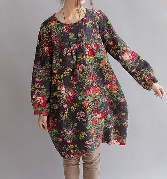 dress patterned dress roses