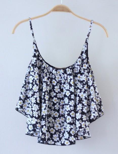 shirt crop tops floral shirt white crop tops
