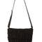 Black fringe purse - black leather purse - black suede handbag - fringe leather handbag - $59.00