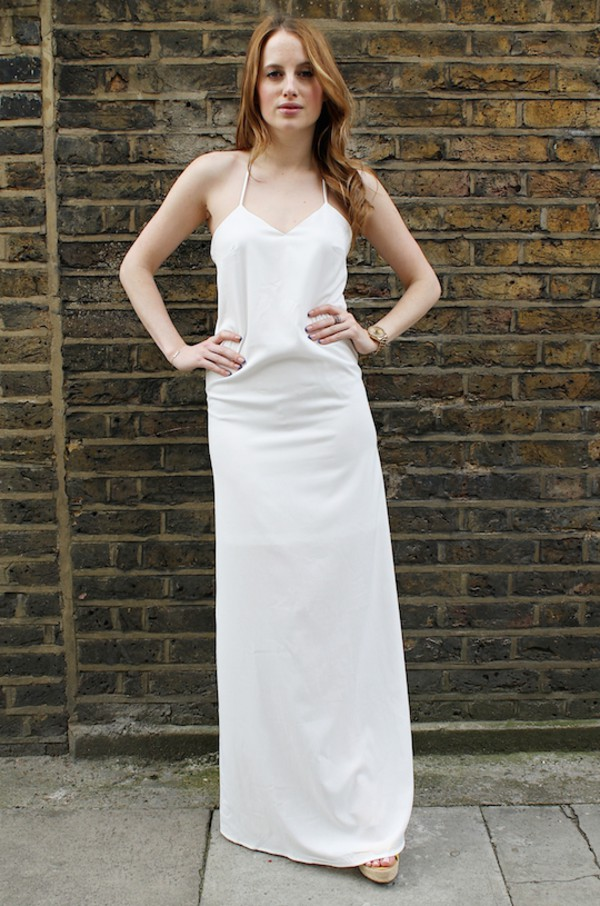 at fashion forte dress jewels shoes Rosie Fortescue white dress summer