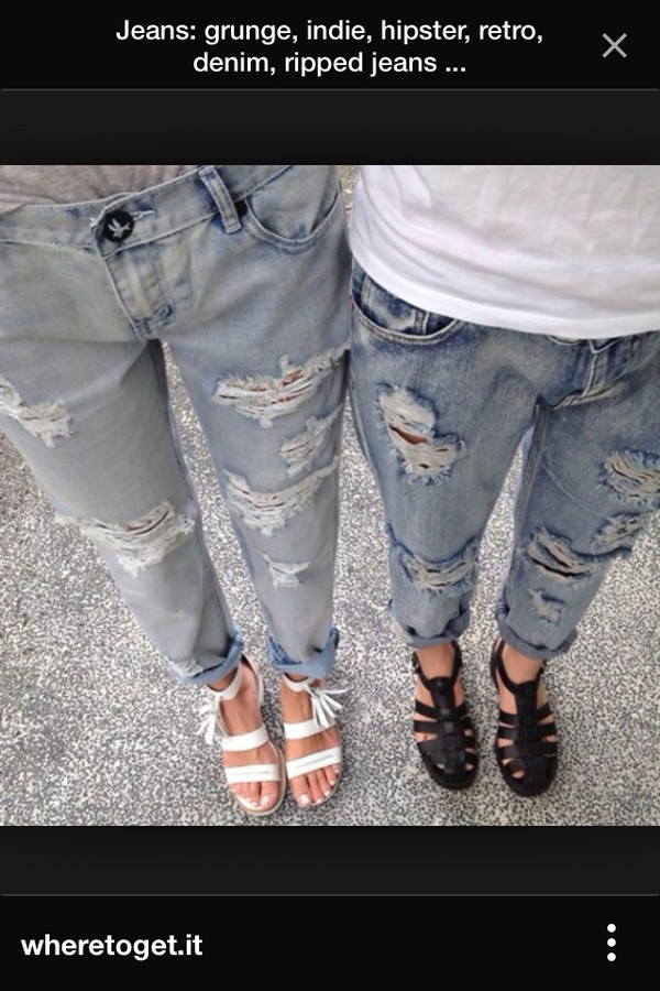 jeans grunge indie ripped ripped