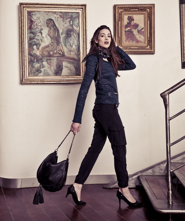 bag fashion lookbook ikks sweater pants shoes