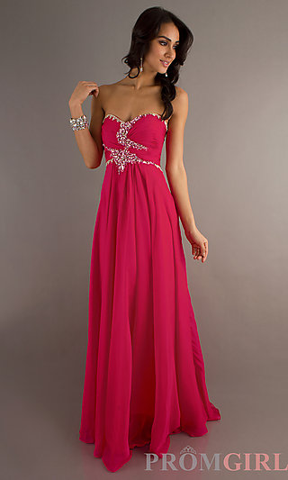 Jeweled Prom Dresses, Dave & Johnny Evening Prom Gowns- PromGirl