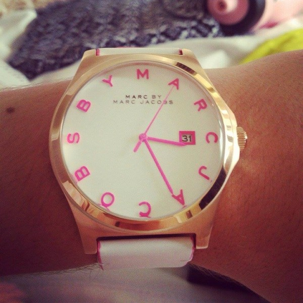 jewels marc jacobs gold pink watch classy marc by marc jacobs watch pink dress gold watch