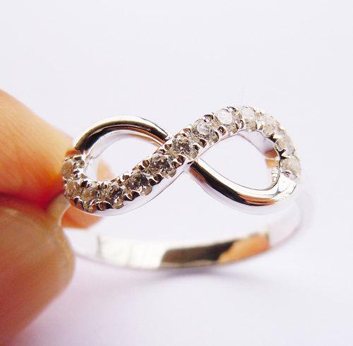 Sterling Silver Infinity Ring HandMade Engravable on Luulla