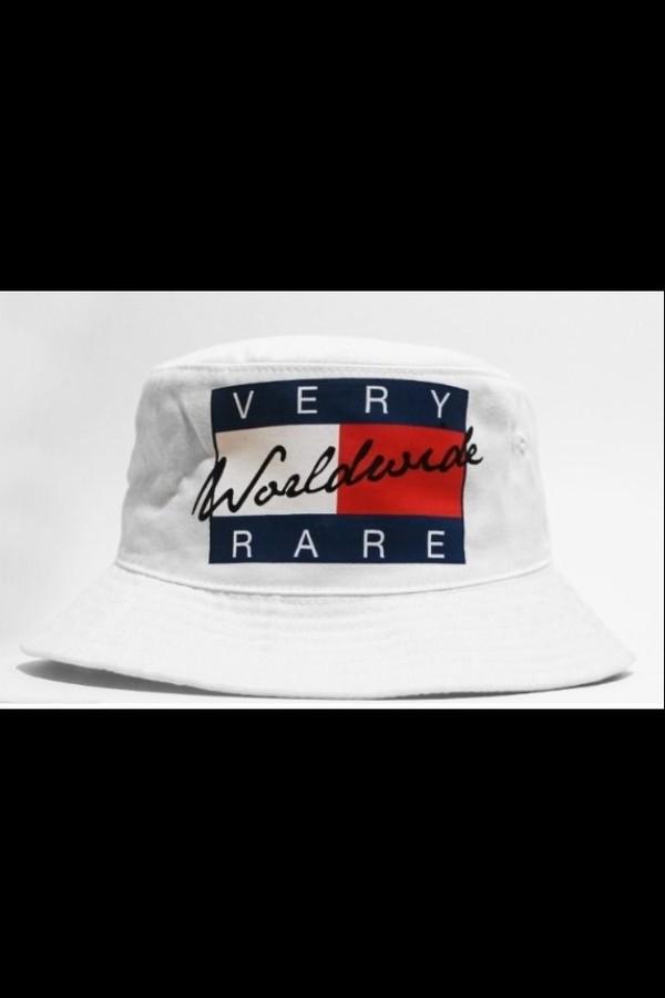 hat urban swag tommy hilfiger bucket hat white very rare worldwide shipping whitee! ;) tommy hilnigga