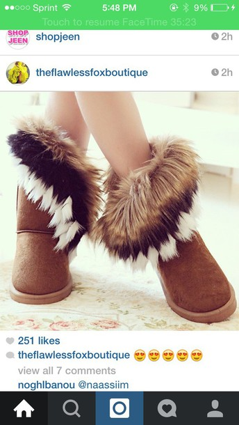 shoes fur boots