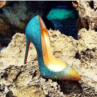 turquoise high heels red bottoms crystal yellow pumps sparkly heels louboutin
