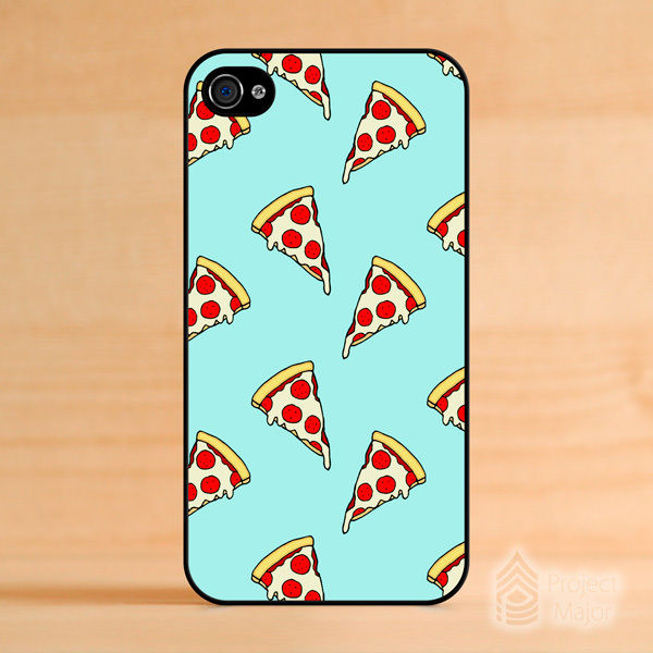 Fits Apple iPhone 4 4S Pastel Pizza Slices Junk Food Cute Mint Green Case Cover | eBay