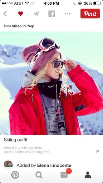 bright pink snowboarding winter sports