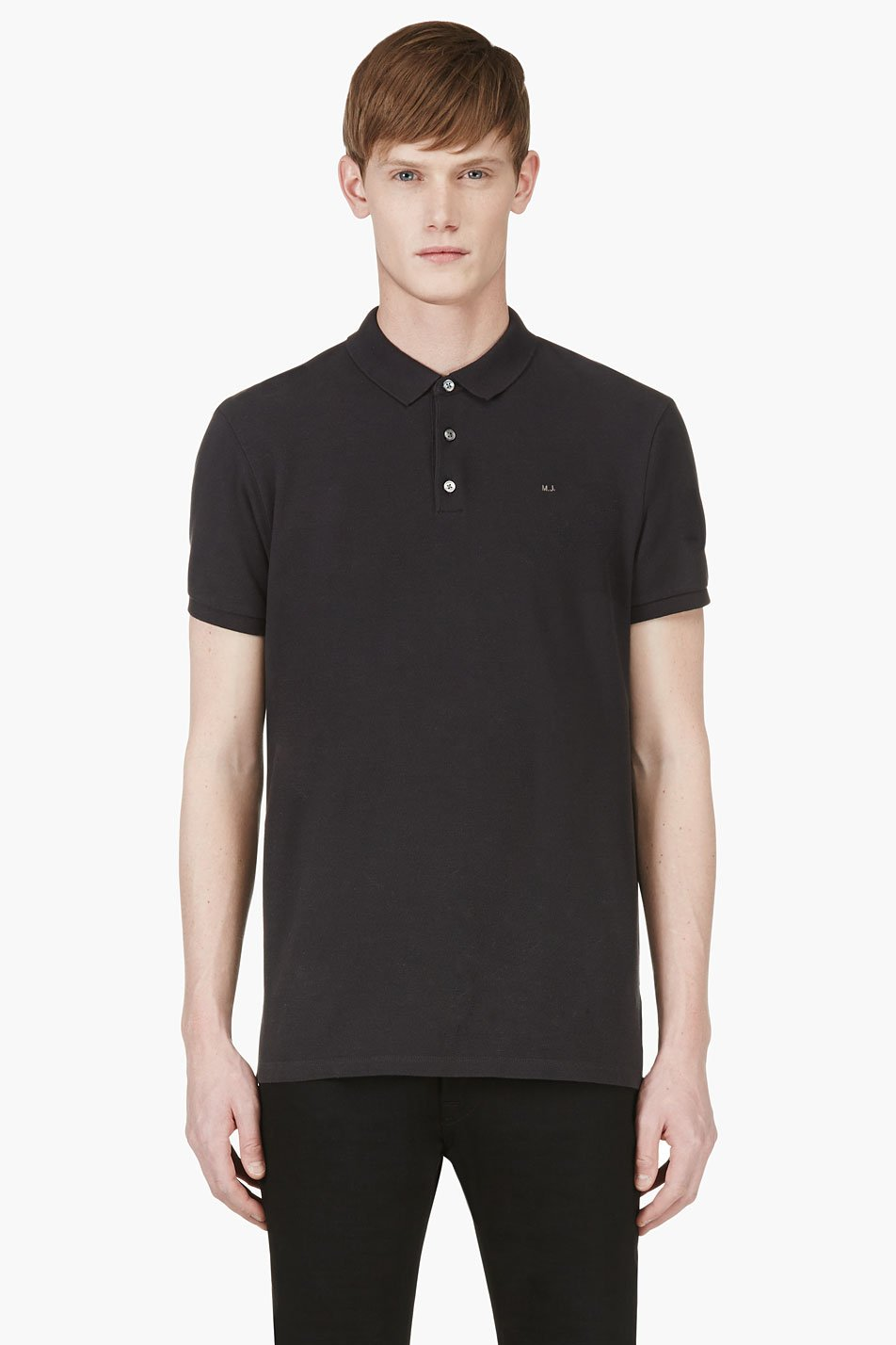 marc by marc jacobs black monogram polo