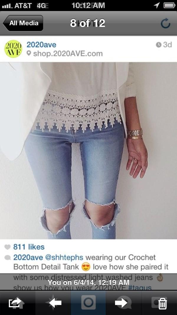 jeans shirt t-shirt blouse top