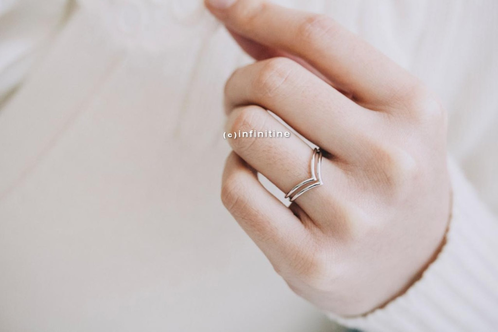 set 2 chevron rings