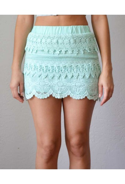 Trendy Clothing, Fashion Shoes, Women Accessories | Search results for: 'Gytha Mint Crochet Skirt'  | LoveShoppingMiami.com