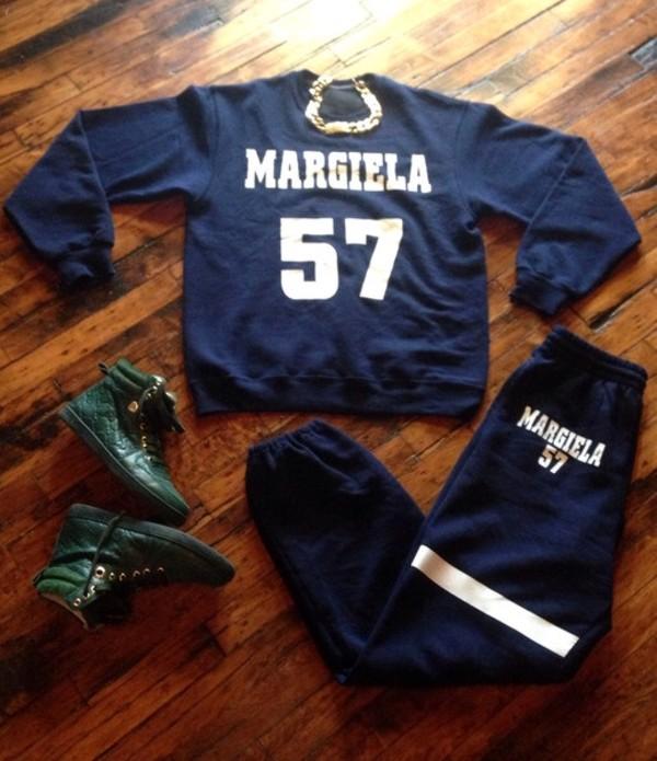 sweater sweatshirt margiela joggers fashion dope
