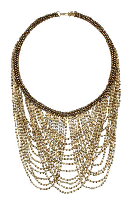 Draped Multi Row Beaded Necklace - Necklaces - Jewelry  - Bags & Accessories - Topshop USA