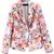 Multi Notch Lapel Long Sleeve Floral Pockets Blazer - Sheinside.com