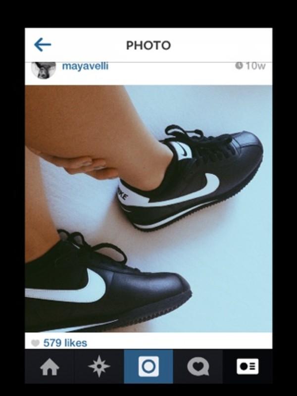 shoes nike black white