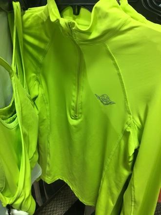 jacket neon yellow yoda star wars