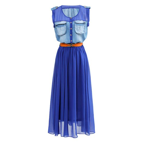 Sleeveless Maxi Dress - Polyvore