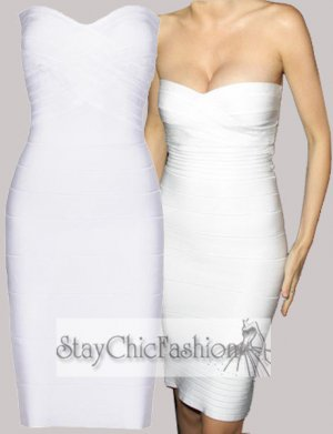 Popular White Strapless Bodycon Dress Cheap 2014 [White Strapless] - $88.00 : Cheap Bodycon Dresses Under $100