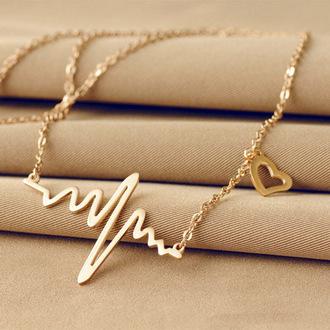 jewels pendant necklace heart waves women