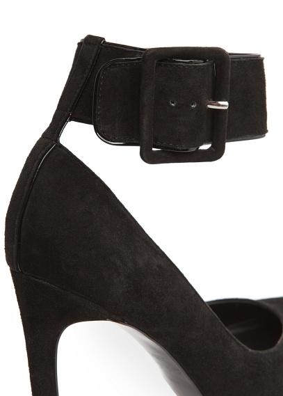 MANGO - Shoes - Ankle strap suede stiletto shoes
