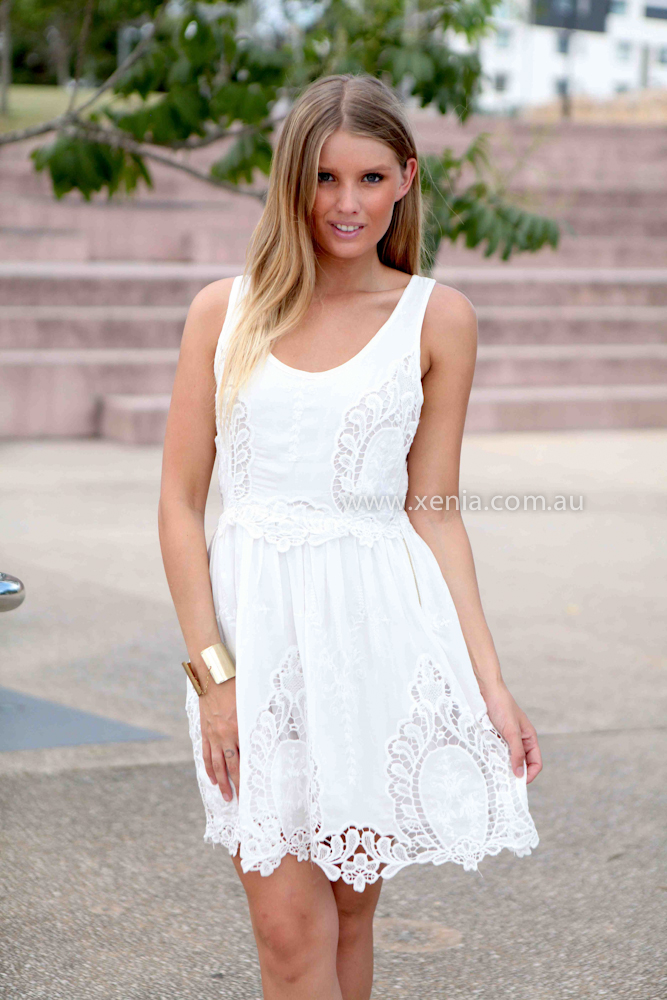 FALLEN ANGEL DRESS , DRESSES, TOPS, BOTTOMS, JACKETS & JUMPERS, ACCESSORIES, 50% OFF SALE, PRE ORDER, NEW ARRIVALS, PLAYSUIT, COLOUR, GIFT VOUCHER,,White,LACE,SLEEVELESS,MINI Australia, Queensland, Brisbane