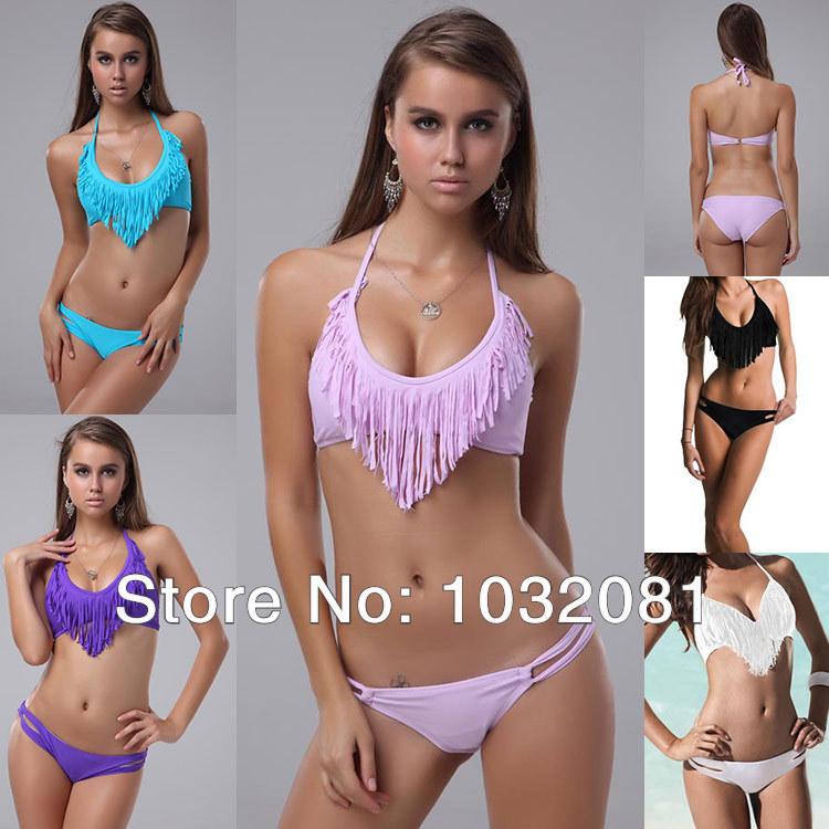 Brazilian Biquinis women sexy fringe tassel Bikini vs beachwear swimsuit swimwear bathing suit com bojo Franja Verao 2014 T22 P-in Bikinis Set from Apparel & Accessories on Aliexpress.com