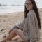 unisex stripe cotton ottoman rib drop-shoulder pullover | shop american apparel
