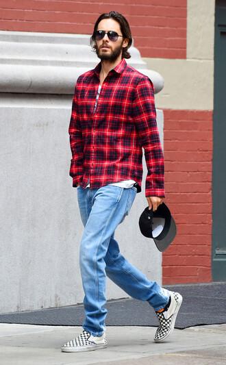 shirt plaid plaid shirt mens shirt menswear mens shoes jared leto