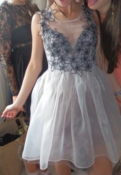 prom dress grey dress flowers prom dress