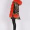 Handmade fox fur parka coat
