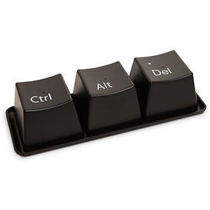 ThinkGeek :: Ctrl-Alt-Delete Cup Set