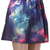 ROMWE   Colorful Clouds Print Elastic Skirt, The Latest Street Fashion