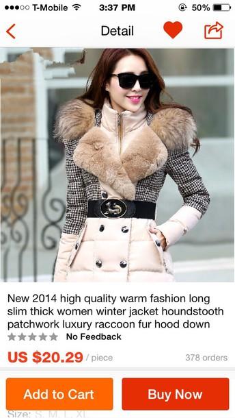 coat cream off-white fur coat