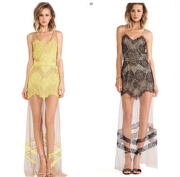 gauze dress lace dress party dress formal event outfit