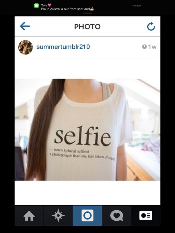 selfie white t-shirt cute go fuck your #selfie