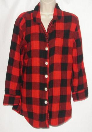 J Crew Women's Oversized Shirt XS Red Black Plaid Lumberjack Boyfriend | eBay