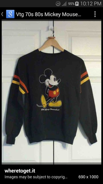disney mickey mouse sweater shirt