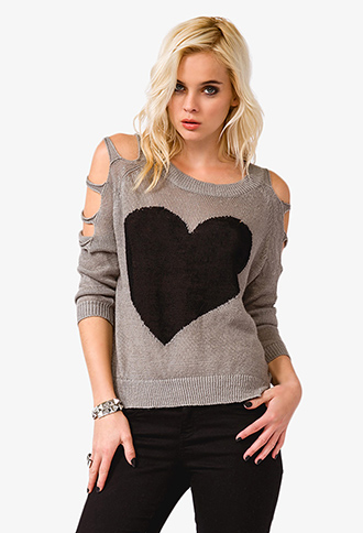 Cutout Heart Sweater | FOREVER21 - 2035135413