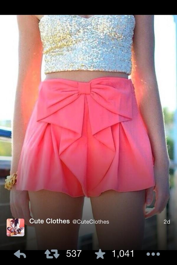 shorts bow blouse