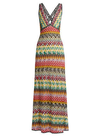 gown knit crochet cream dress