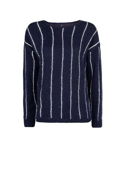 MANGO - NEW - Pinstripe wool cotton-blend sweater
