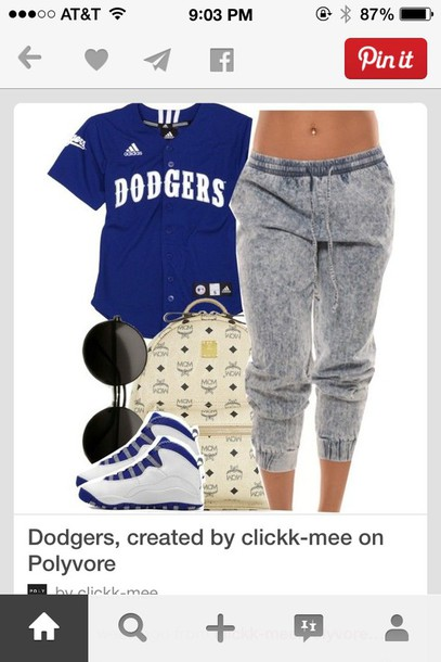 shirt adidas wings t-shirt blue dress dark jersey dodger fans jeans
